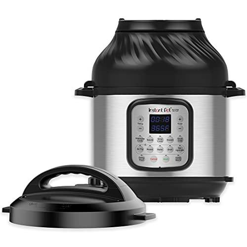 Instant Pot Duo Crisp 11-in-1 Electric Pressure Cooker with Air Fryer Lid, 8 Quart...