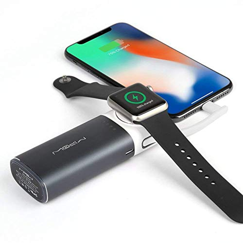 MIPOW Portable Apple Watch Charger, MFi Certified Magnetic 6000mAh Power Bank with...