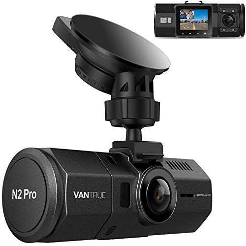 Vantrue N2 Pro Uber Dual 1080P Dash Cam, 2.5K 1440P Dash Cam, Front and Inside Accident...