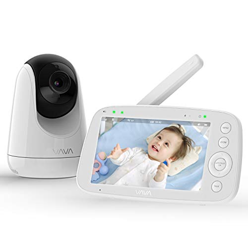 Baby Monitor, VAVA 720P 5' HD Display Video Baby Monitor with Camera and Audio, IPS...