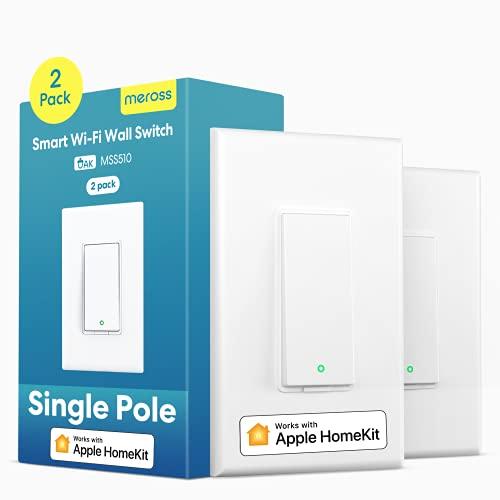 meross Smart Light Switch Supports Apple HomeKit, Siri, Alexa, Google Assistant &...