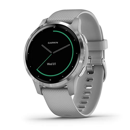Garmin vivoactive 4S, Smaller-Sized GPS Smartwatch, Features Music, Body Energy...