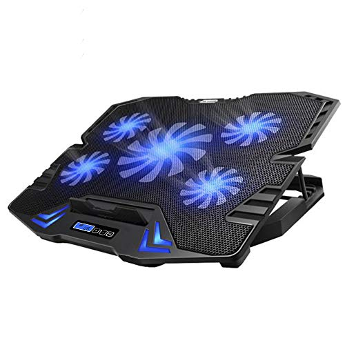 TopMate C5 Laptop Cooling Pad Gaming Notebook Cooler, Laptop Fan Cooling Stand Adjustable...