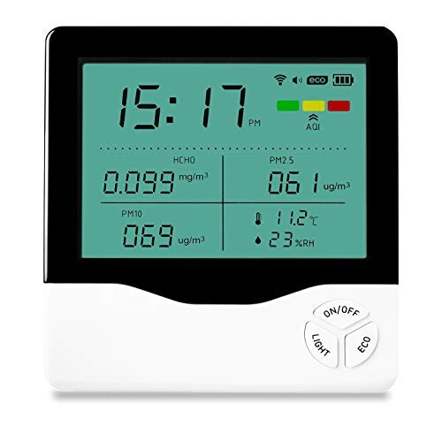 Air Quality Monitor Indoor, Air Quality Tester for Formaldehyde(HCHO) PM2.5/PM10...