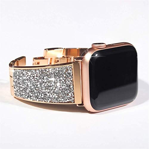 LHHJPULS Diamond Strap for Apple Watch Jewelry Band 44mm 40mm 38mm 42mm iWatch Series 5 4...