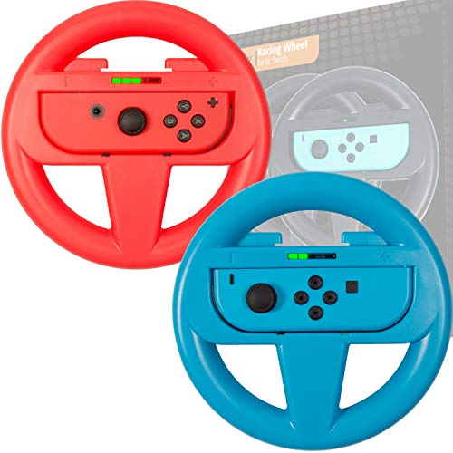 Steering wheels for Nintendo switch joycons and Mario Kart parties & tournaments TWIN PACK...
