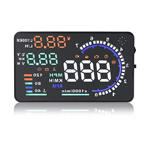 Eoncore New Universal 5.5' Car A8 HUD Head Up Display with OBD2 Interface Plug & Play KM/h...