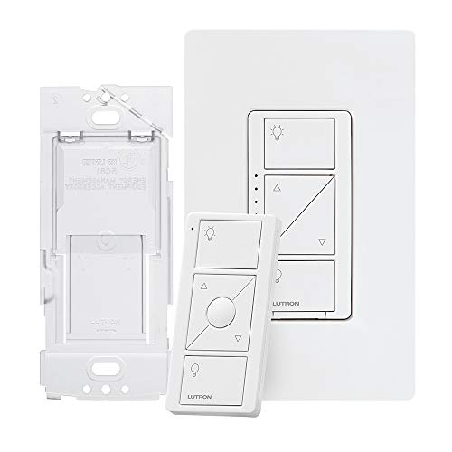 Lutron Caseta Smart Home Dimmer Switch and Pico Remote Kit, Works with Alexa,...