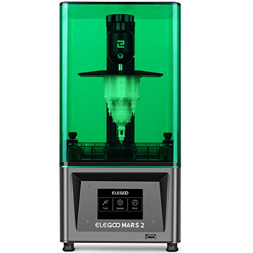 ELEGOO Mars 2 Mono MSLA 3D Printer UV Photocuring LCD Resin 3D Printer with 6.08 inch 2K...