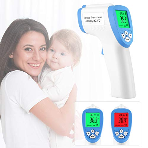 Forehead Thermometer, Non-Contact Digital Infrared Thermometer with Fever Health Alert LCD...