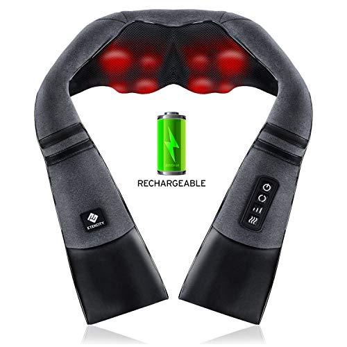 Neck Massager Cordless, Etekcity Back and Shoulder Massagers, Rechargeable...