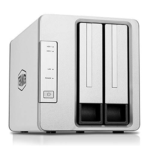 TerraMaster F2-221 NAS 2-Bay Cloud Storage Intel Dual Core 2.0GHz Plex Media Server...