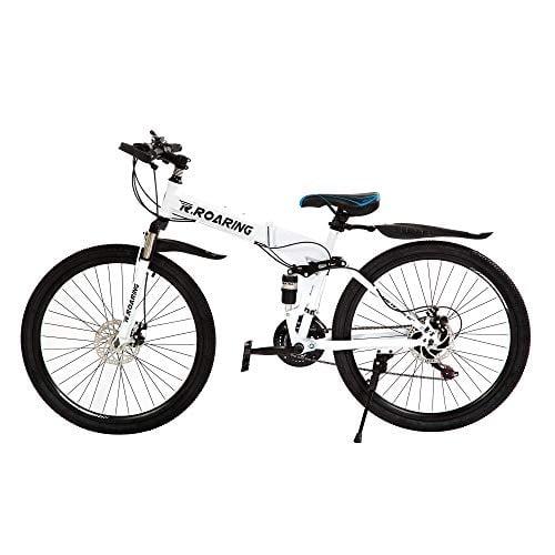R.Roaring Mountain Bike for Adult Teens 21 Speed Gears Folding Outroad Bike 26 inch Dual...