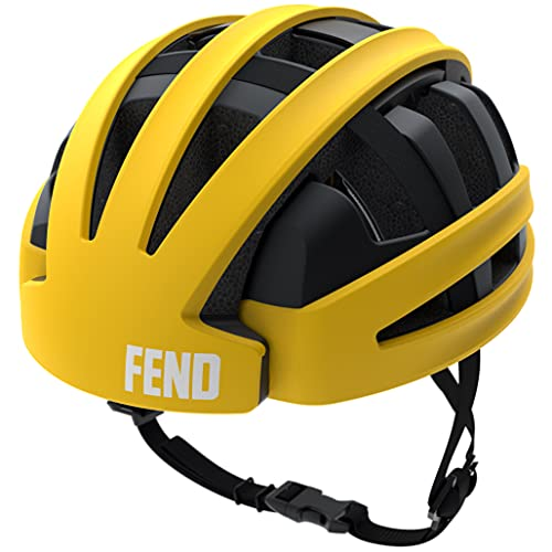 FEND One Foldable Bike Helmet - Adult Mens and Womens Bike Helmet - Safety Certified for...