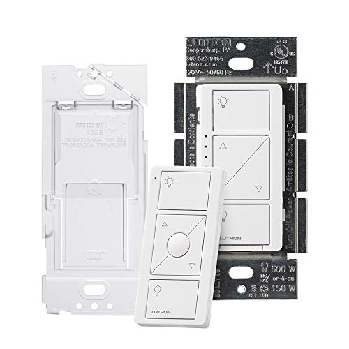 Lutron Caseta Smart Home Dimmer Switch and Pico Remote Kit, Works with Alexa, Apple...