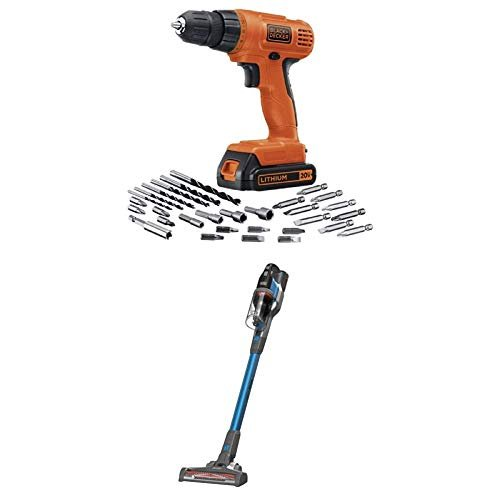 BLACK+DECKER 20V MAX Cordless Drill/Driver Kit with POWERSERIES Extreme Cordless Stick...