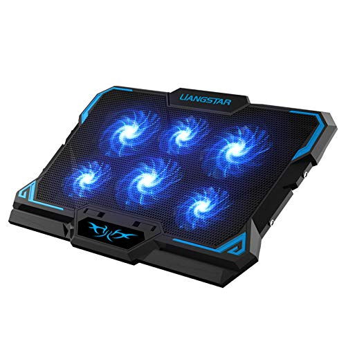 Laptop Cooling Pad, Laptop Cooler with 6 Quiet Led Fans for 15.6-17 Inch Laptop Cooling...