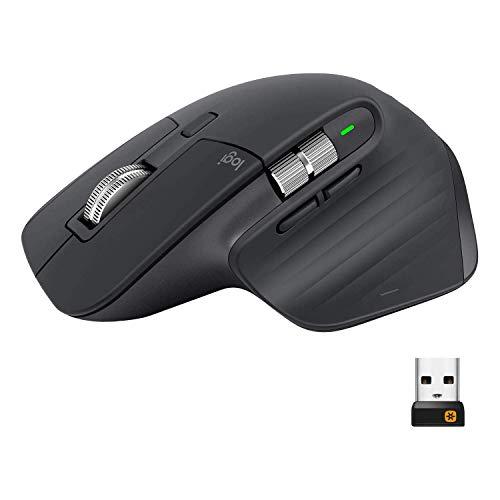 Logitech MX Master 3 Advanced Wireless Mouse, Ultrafast Scrolling, Ergonomic, 4000 DPI,...