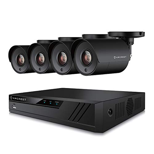 Amcrest UltraHD 4MP 4CH Home Security Camera System with 4 x 4-Megapixel Weatherproof...