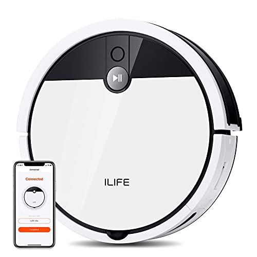 ILIFE V9e Robot Vacuum Cleaner, 4000Pa Max Suction, Wi-Fi Connected, 700mL Large Dustbin,...