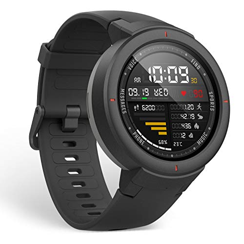 Amazfit Verge Smartwatch with Alexa Built-in, GPS Plus GLONASS All-Day Heart Rate and...