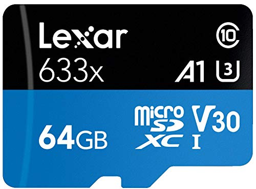 Lexar High-Performance 633x 64GB MicroSDXC UHS-I Card with SD Adapter...