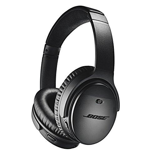 BOSE QuietComfort 35 (Series II) Wireless Headphones, Noise Cancelling - Black (Renewed)