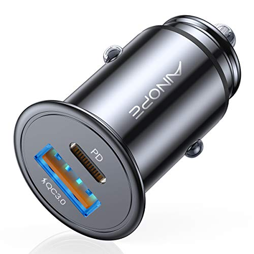 USB C Car Charger, 36W PD 3.0&QC Fast Type C Car Charger Adapter Metal, AINOPE Super Mini...