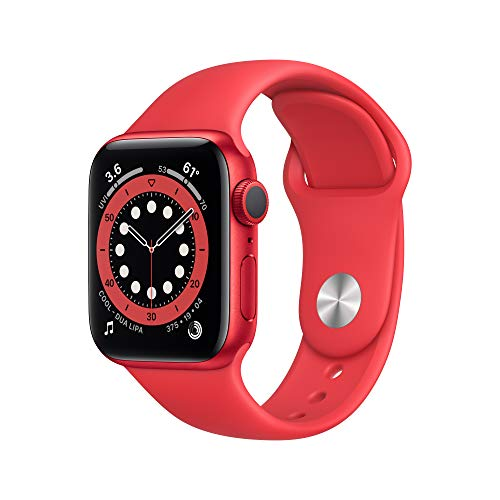 New Apple Watch Series 6 (GPS, 40mm) - (Product) RED - Aluminum Case with (Product)...