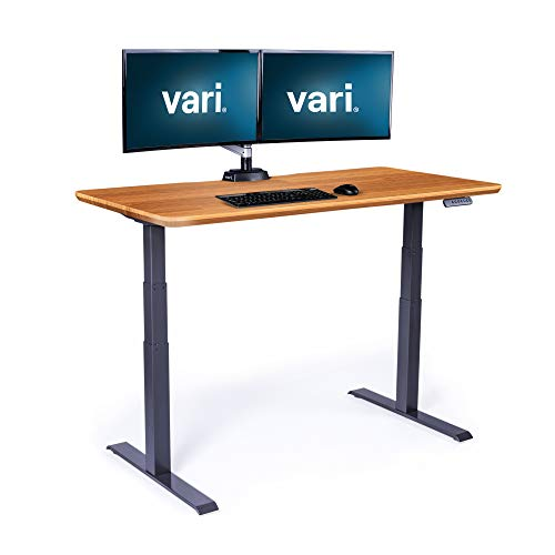 Vari Electric Standing Desk 60' x 30' - Dual Motor Sit to Stand Desk - Push Button Memory...