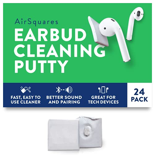 AirSquares Earbud Cleaning Putty for Apple AirPods, Remove Ear Wax, Dirt & Gunk from...
