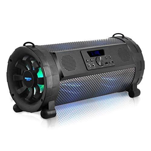 Pyle Bluetooth Boombox Street Blaster Stereo Speaker - Portable Wireless Power FM Radio /...
