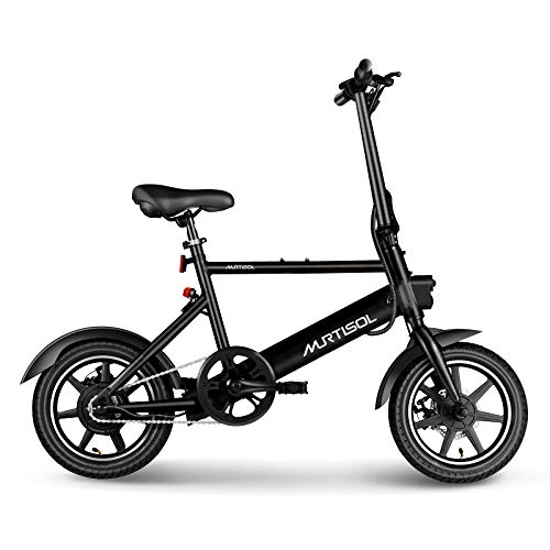 Murtisol 14 inch Electric Bike 36V 250W, 6AH Removable Lithium Battery, Aluminum Ebike...