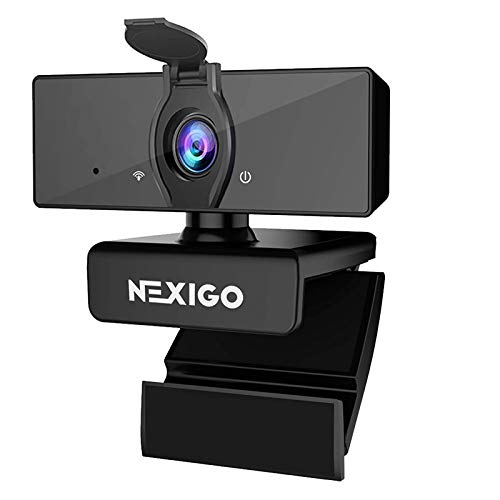 1080P Business Webcam with Software Control, Dual Microphone & Privacy Cover, 2021...