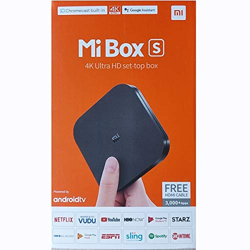 Xiaomi Mi Box S Android TV with Google Assistant Remote Streaming Media Player -...