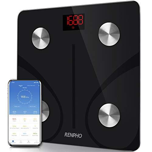 RENPHO Body Fat Scale Smart BMI Scale Digital Bathroom Wireless Weight Scale, Body...