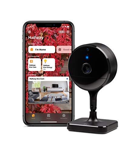 Eve Cam - Apple HomeKit Smart Home Secure Indoor Camera with Motion Sensor, Microphone &...