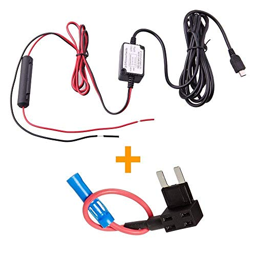 Spy Tec Dash Cam Hardwire Fuse Kit with Micro USB Direct Hardwire Car Charger Cable Kit...