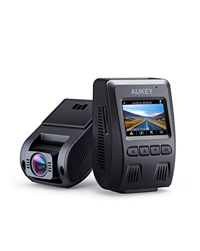 AUKEY Dash Cam FHD 1080p Car Camera Supercapacitor 170 Degree 6-Lane Wide Angle Lens...