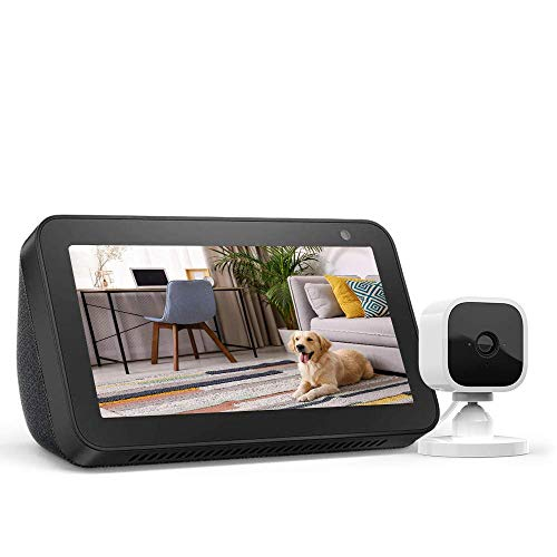 Echo Show 5 Charcoal with Blink Mini Indoor Smart Security Camera, 1080 HD with Motion...
