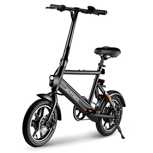 Murtisol 14 inch Electric Bicycles Aluminium Adult Ebike 36V 250W, 6AH Lithium Battery,...