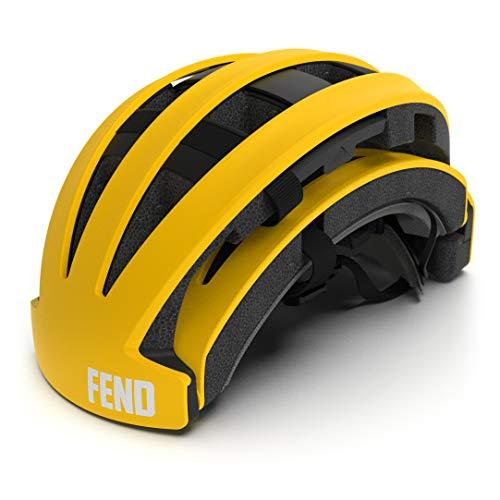 FEND Foldable Bike Helmet - Durable, Lightweight Helmet for Adults - Safety Certified...