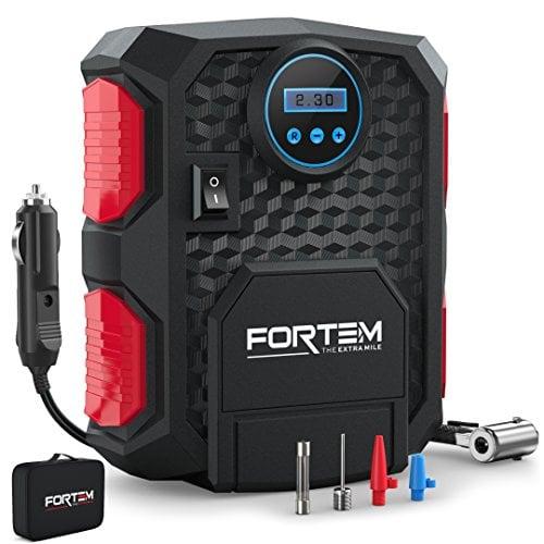 FORTEM Tire Inflator Portable Air Compressor, Bike Tire Pump, 12V Electric Air Pump for...