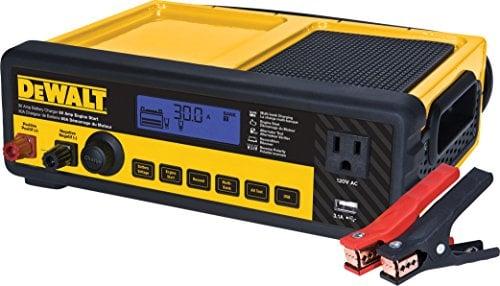 DEWALT DXAEC80 30 Amp Bench Battery Charger: 80 Amp Engine Start, 2 Amp Maintainer, 120V...