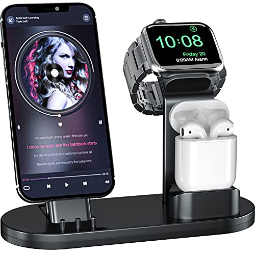 OLEBR 3 in 1 Charging Stand Compatible with Apple Watch 45mm/44mm and 41mm/40mmSeries...