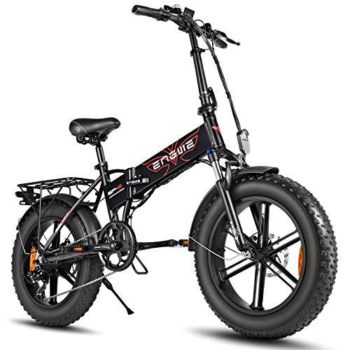 ENGWE Electric Bike 500W 750W 20 inch Fat Tire Electric Bicycle Mountain Beach Snow Bike...