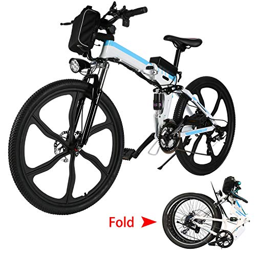 Aceshin 26'' Folding Electric Mountain Bike with Removable Large Capacity Lithium-Ion...