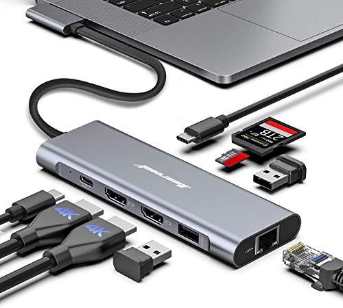 MacBook Pro Docking Station, 4K Triple Display Hiearcool 9 in 2 Laptop Docking Station...