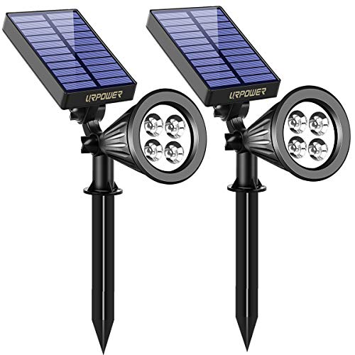 URPOWER Solar Lights Outdoor, Adjustable Solar Spot Lights Outdoor, 2-in-1 Waterproof...