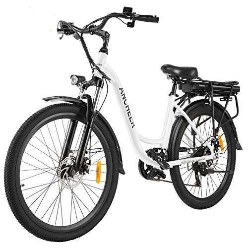26' Electric City Bike, Removable 12.5Ah Lithium-ion Battery Pack Integrated with Frame,...